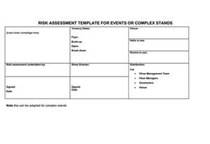 Risk Assessment Analysis Template