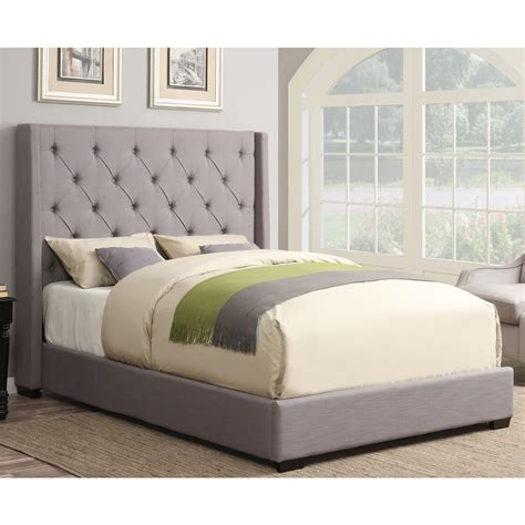 bed in bed contemporary shelter fabric upholstered bed in ash