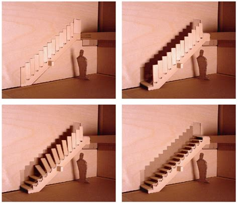 Foldable Stairs Industrial Designer cool foldable stairs from designer aaron tang