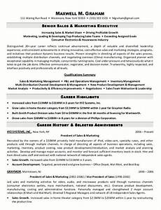 resume sample 5 senior sales marketing executive With free resume samples for sales and marketing