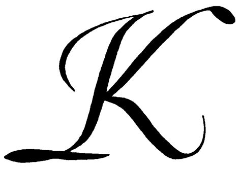 Clipart Of A Letter K