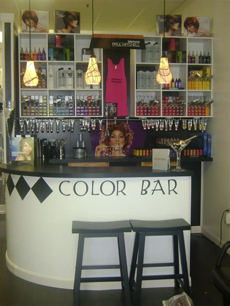 color bar salon make a sticker that says color bar and put it next to the