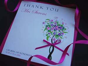 Handmade Thank You Teacher Card - Handmade Cards -Pink & Posh
