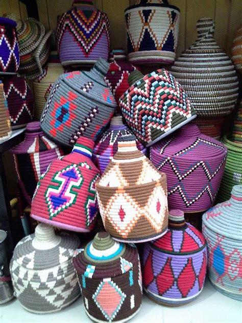 panier basket chambre vintage panier berbére en marocain par
