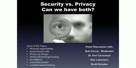 panel security  privacy