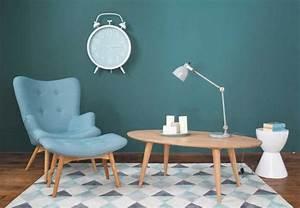 les 25 meilleures idees de la categorie bleu canard que With beautiful couleur peinture salon tendance 7 un salon vintage le blog deco de maisons du monde