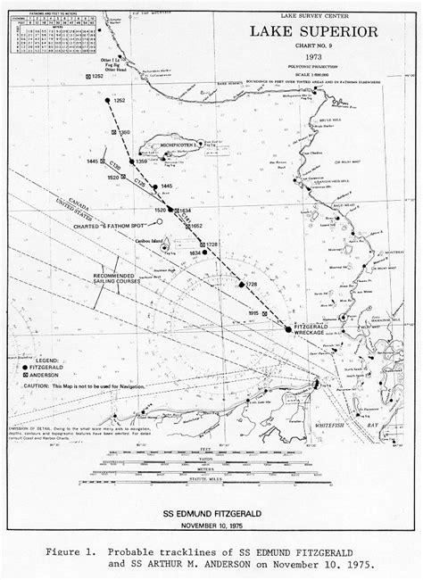 Where Did The Edmund Fitzgerald Sank Map by Ss Edmund Fitzgerald