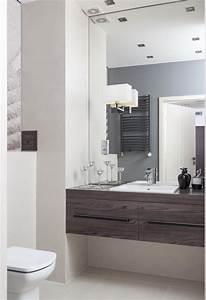 salle de bain contemporaine idees tendances et photos With miroir salle de bain grand format