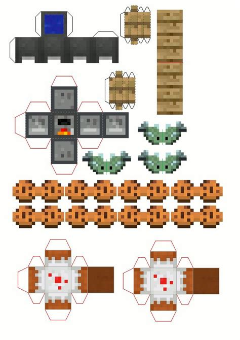papercraft fourth floor   mini house kitchen