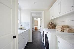 Galley Laundry Room - Transitional - laundry room - TR