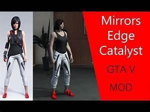 GTA 5 Mirrors Edge Catalyst CLOTHING PACK V1 Mod ...