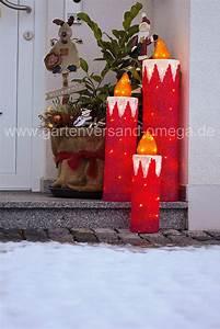 Weihnachtsbeleuchtung Für Draußen : led weihnachtsau enbeleuchtung acryl kerzen set ~ Michelbontemps.com Haus und Dekorationen