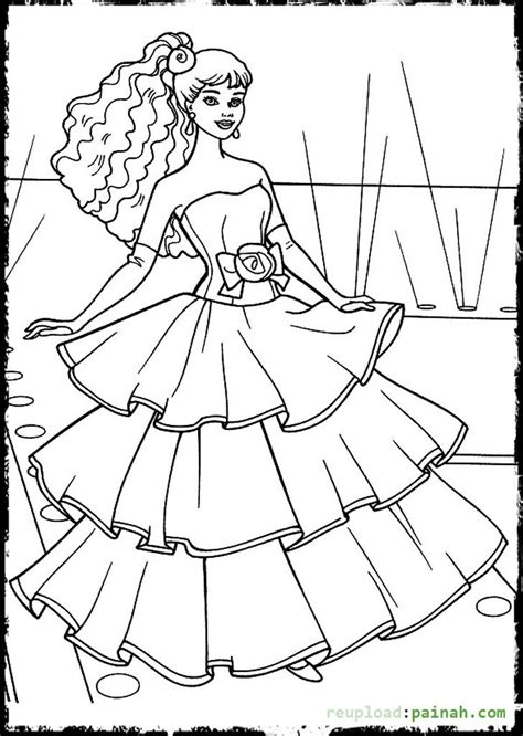 coloring pages  fashion dresses  getcoloringscom  printable colorings pages  print