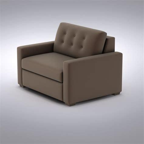 Allerton Sleeper Sofa by Crate Barrel Sofa 3d Model