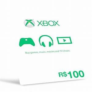 Microsoft Gift Card Carto Xbox R100 Reais Preo