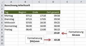 Excel Anzahl Tage Berechnen : excel uhrzeiten addieren ~ Themetempest.com Abrechnung
