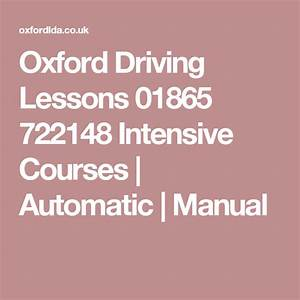 Oxford Driving Lessons Intensive Courses