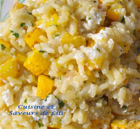 risotto à la courgette jaune et à la ricotta cuisine et
