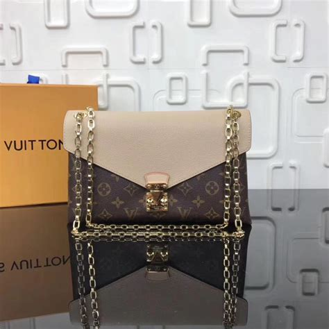 pallas chain shoulder khaki bag  lv modishbagsru