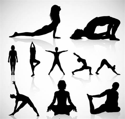 ✓ free for commercial use ✓ high quality images. 8 Yoga Silhouette Designs   Design Trends - Premium PSD ...