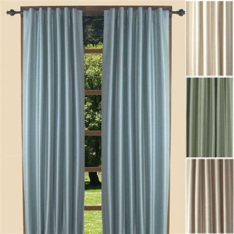 fontaine faux silk  tab thermal curtain panels