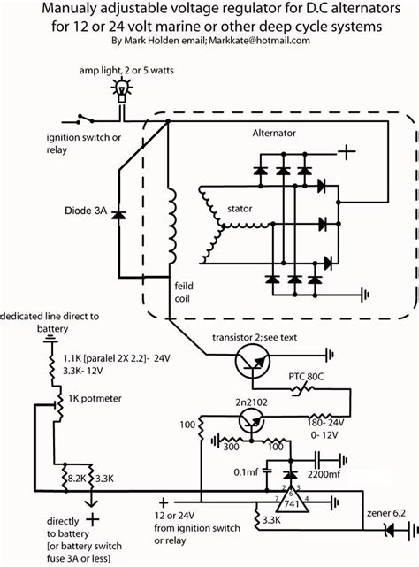 external regulator alternator wiring diagram fuse box  wiring diagram