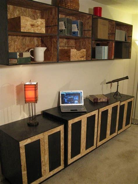 custom osb entertainment center  modular osb