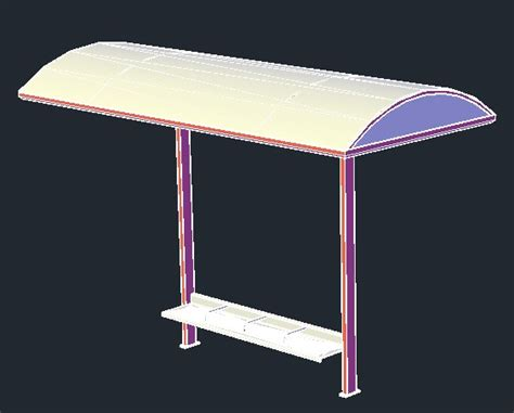 bus stop stand  model  autocad designs cad