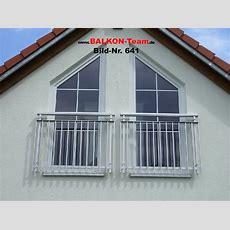 Französische Balkone Mit Stabgeländer
