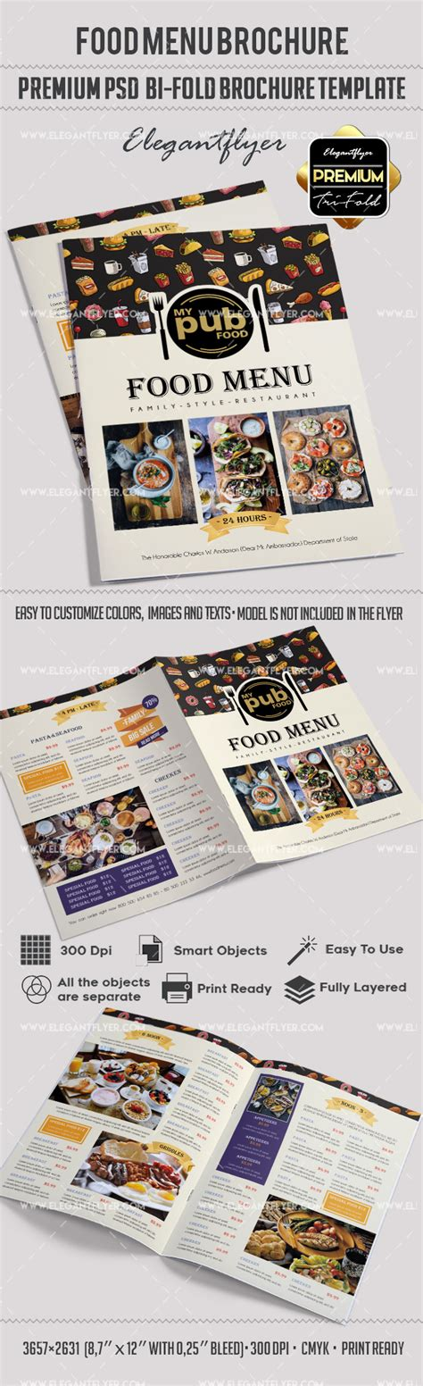 Food Brochure Templates by Food Menu Brochure Template By Elegantflyer