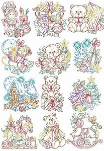 Thread Size Chart Vintage Santa S Workshop Collection Machine Embroidery