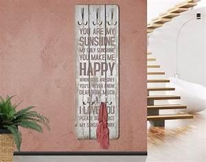 Designer Garderobe Holz : mantiburi design garderobe mdf holz no rs182 sunshine wand haken leiste flur diele schrift ~ Sanjose-hotels-ca.com Haus und Dekorationen