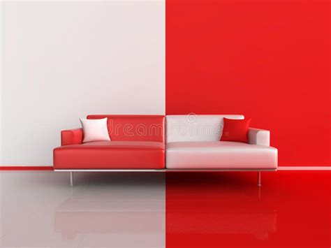 red and white sofa red and white contrast sofa stock photo image 17105750