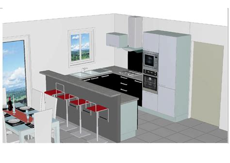 plan en 3d cuisine maison sponsorisée 41 label rt 2012 à oucques 41290