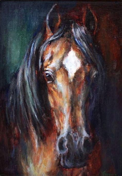 original horse painting  canvas  equine  ferrarofineart owl rocks   horse