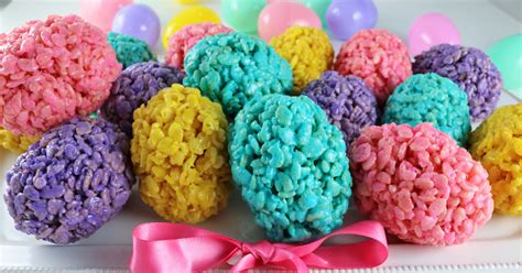 rice krispie easter eggs  sisters