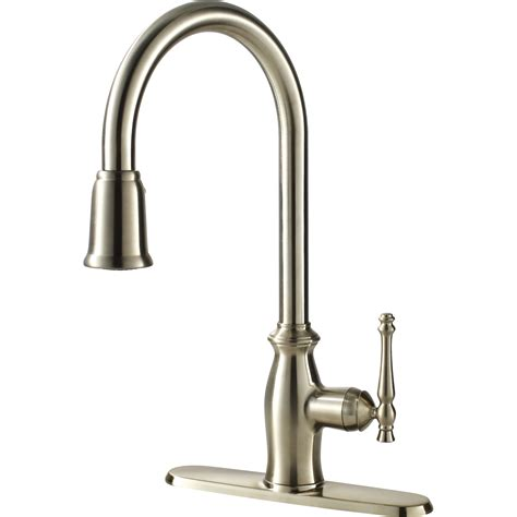 kitchen faucets water efficient single handle kitchen faucet with pull