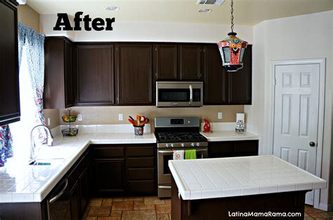 How To Refinish Your Kitchen Cabinets  Latina Mama Rama