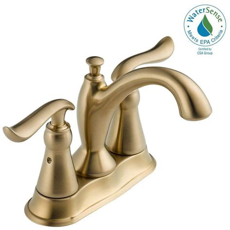 delta brass faucet delta linden 4 in centerset 2 handle bathroom faucet with