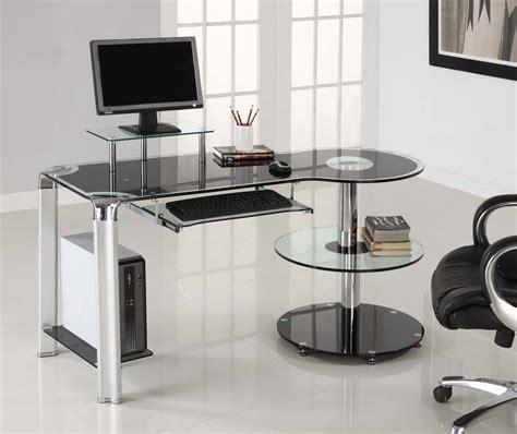 glass desk with storage on desks innovex round storage computer desk part
