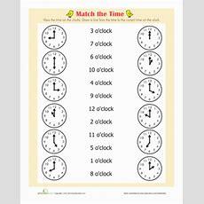 On The Hour  Worksheet Educationcom