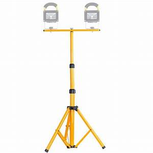 Led flood light lamp work emergency tripod stand