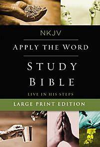 nkjv apply the word study bible large print hardcover With the living bible red letter edition large print