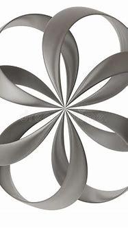 3d abstract flower shape stock illustration. Illustration ...