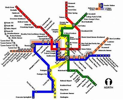 Line Map Silver Wmata Metro Proposed Dc