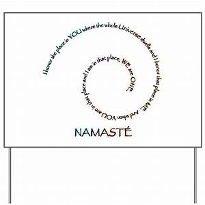 Meaning of Namaste Yard Sign by Visualizations
