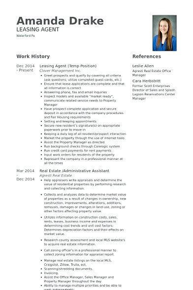 Leasing Consultant Resume Sle by Leasing Manager Resume