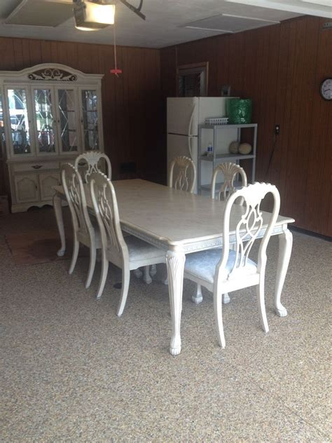 dining room table and hutch antique white dining room table and buffet with hutch ebay
