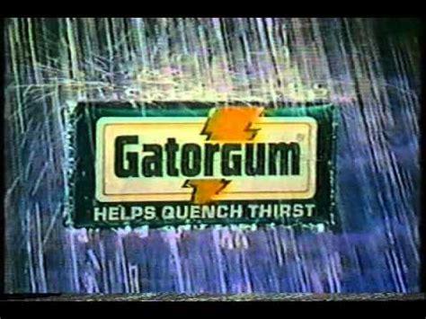 1981 Gatorade's Gator Gum Commercial - YouTube