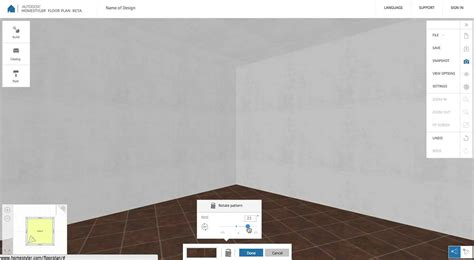 homestyler floor plan beta   rotate floor pattern